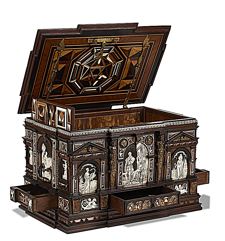 Antiques News & Fairs - LAW - record participants & exhibitions announced incl. Renaissance casket by Master of Perspective