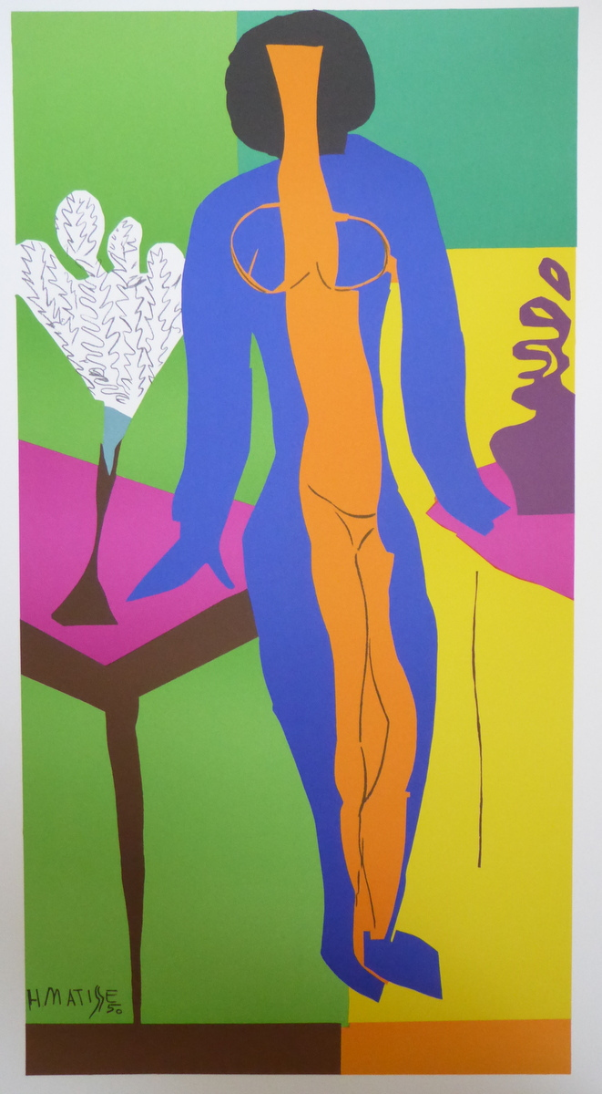 One from a set of ten Henri Matisse lithographs from the