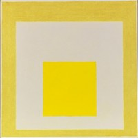 Josef Albers, Study for Homage to the Square: Two Yellows with Silvergray. Oil on fiberboard, 1960 61 x 61 cm (24 x 24 in) Estimate: €180,000-€240,000