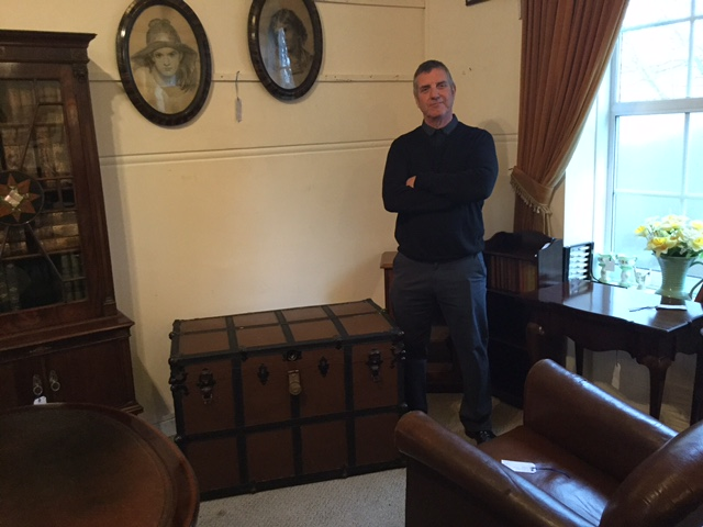 Antique Chest, pictured with dealer Ian Almond