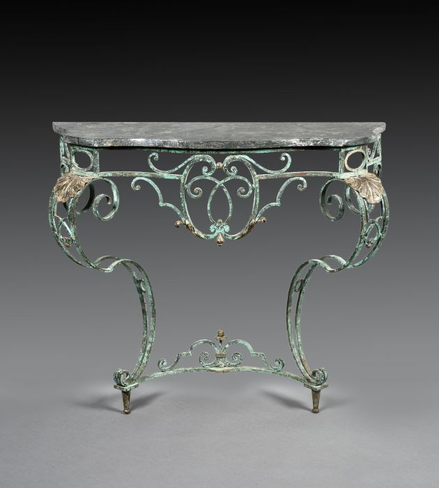 French Wrought Iron Console Table from Robert Young