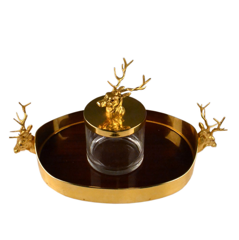 Gold plated tray with Reindeer handles, mid-century Italian, 1960s-1970s, £1500, offered by The Moderns at AlfiesGold plated tray with Reindeer handles, mid-century Italian, 1960s-1970s, £1500, offered by The Moderns at Alfies
