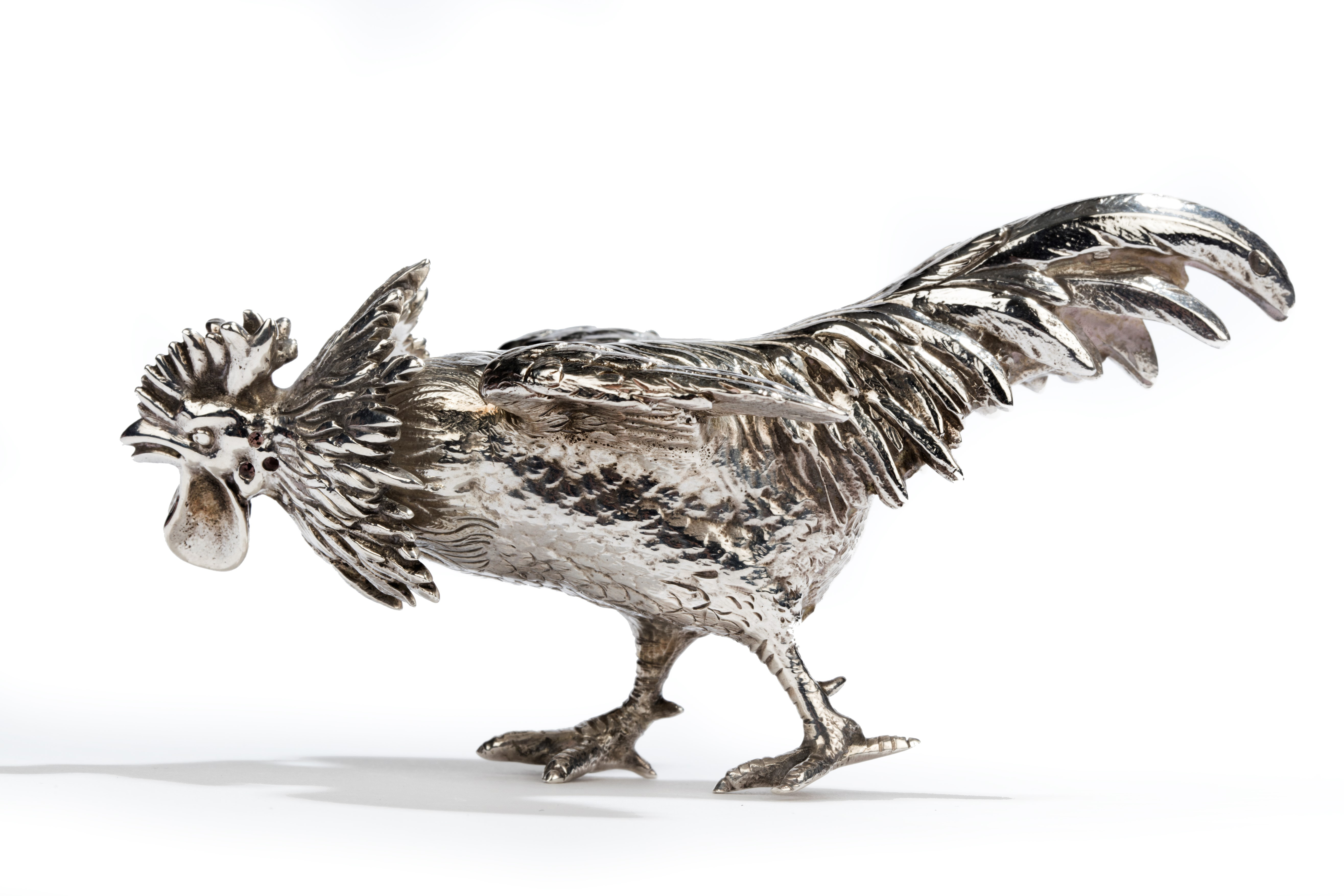 JH Bourdon-Smith Ltd: A silver cockerel by William Thornhill, London, 1883, £1,850.