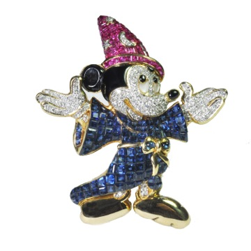 Mickey Mouse brooch, from Plaza, priced at £8,500