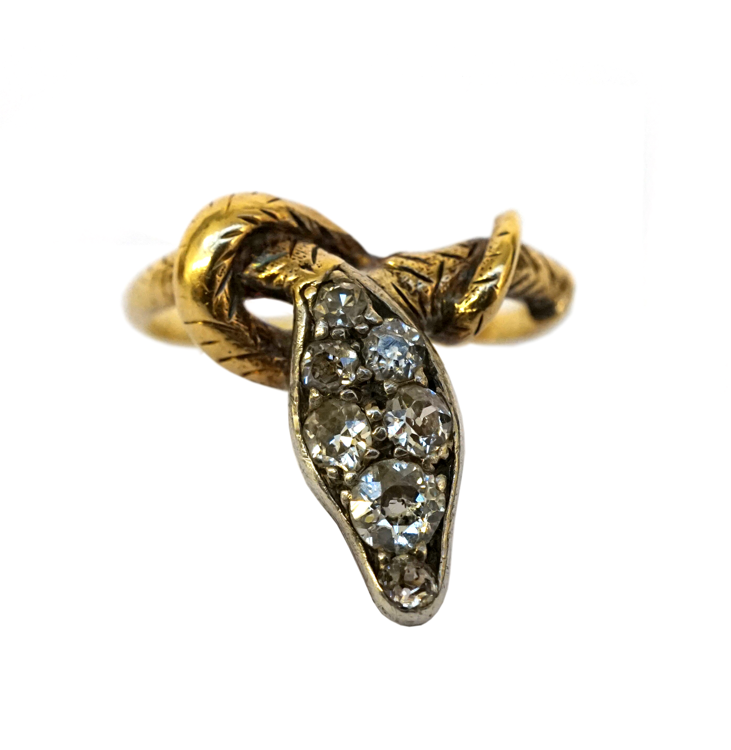 Mariad Antiques at Grays - 18ct diamond snake ring, 1860, £750