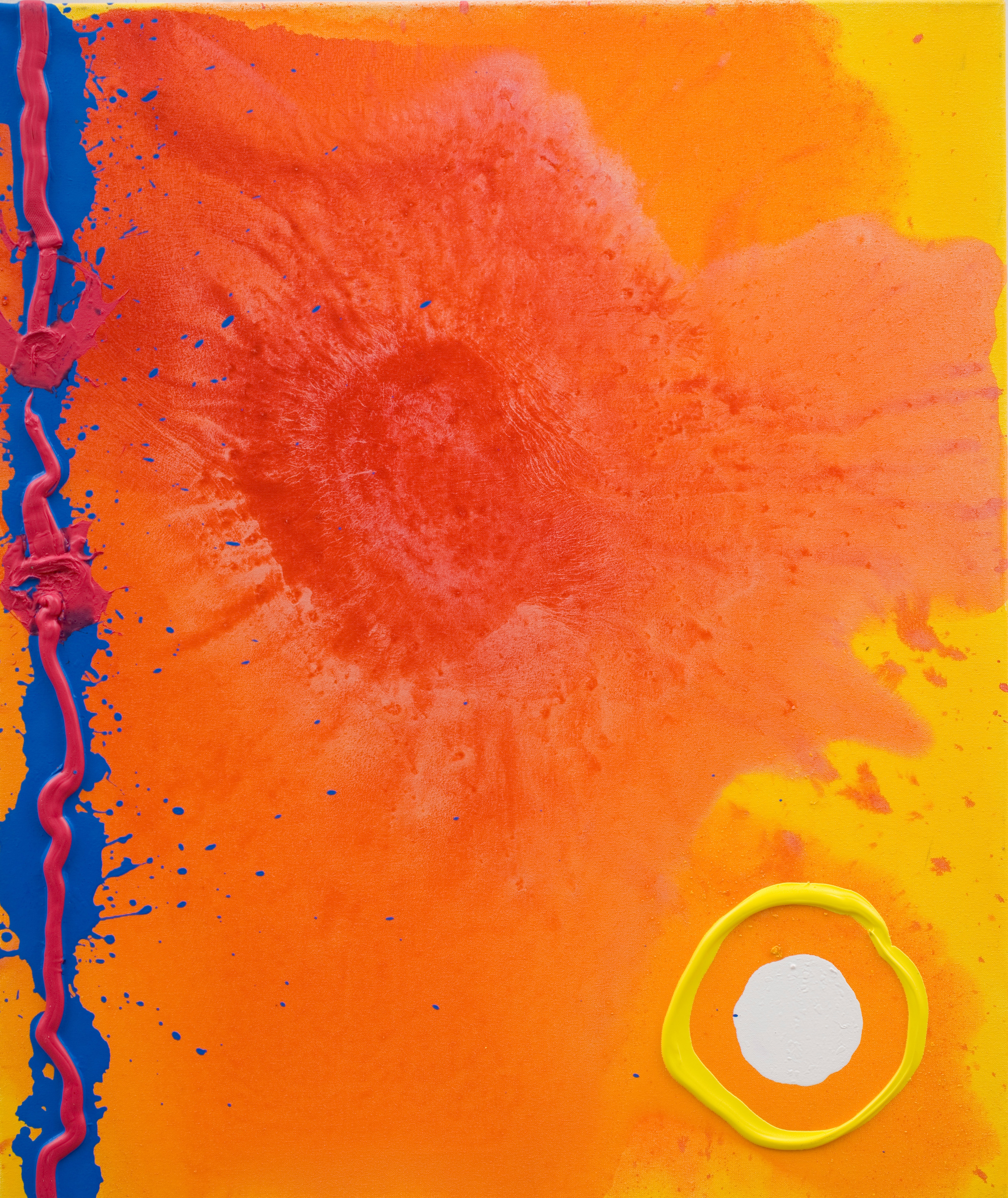 Antiques News - Antique Fair - Holland Murray Fine Art - 'Hope Morning 27.04.07' by John Hoyland RA, acrylic on canvas, £24,000.
