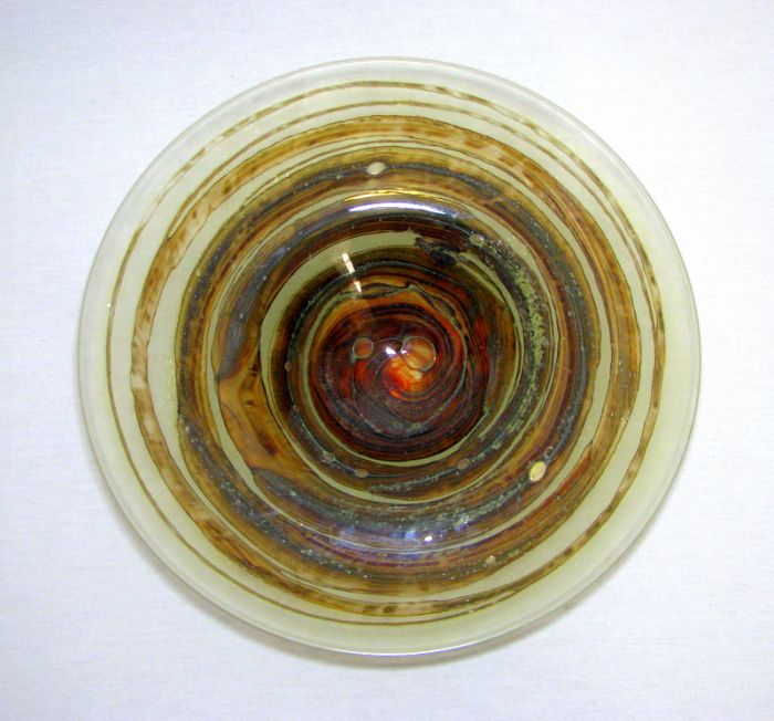 Michael Harris 'Tortoiseshell' Glass Charger from ScottishAntiques.com