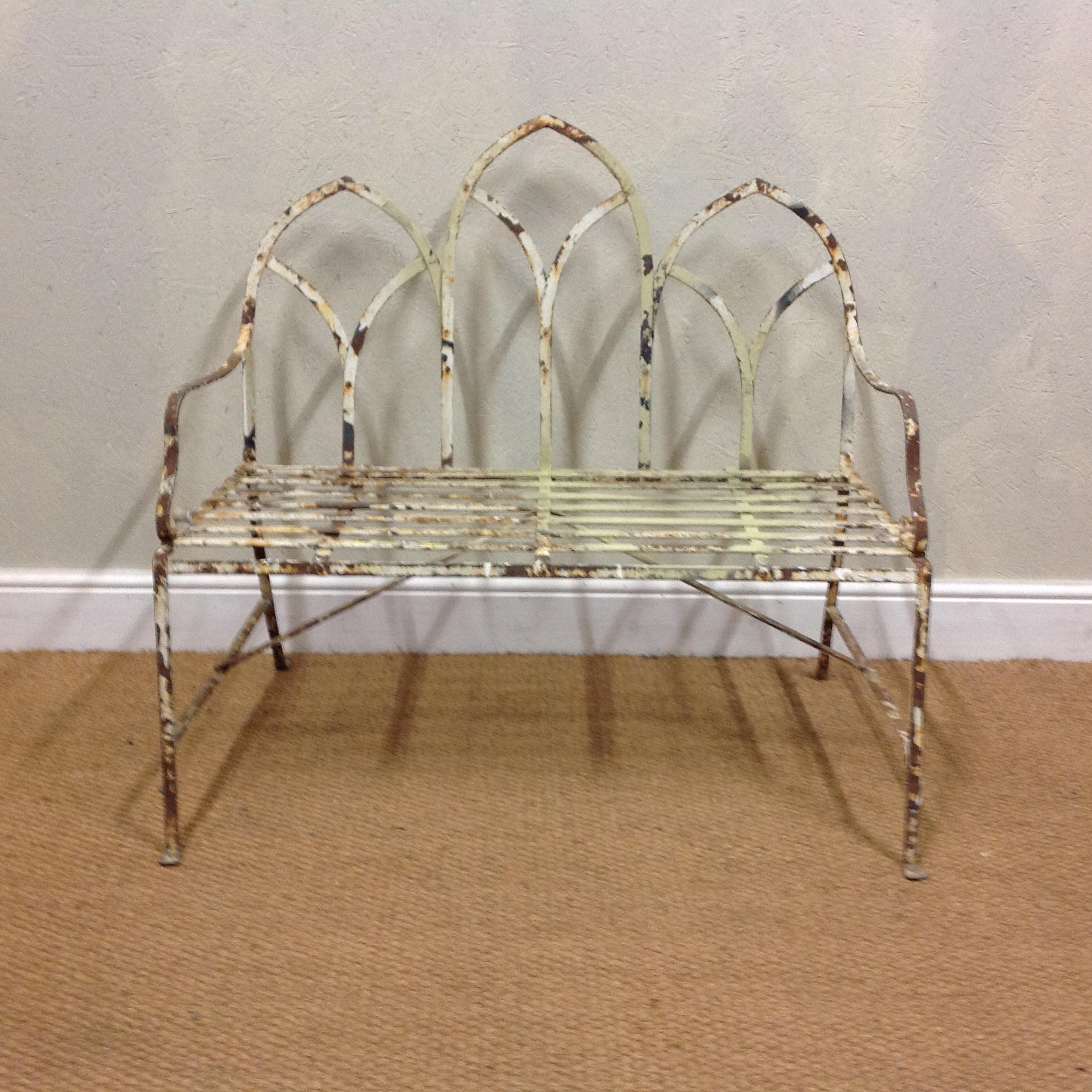 Antiques News - Robin Cox - Early C19th Gothic garden bench
